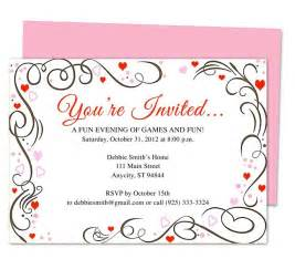 You Are Invited Template by Generic Invitations Amour Any Occasion Invitation