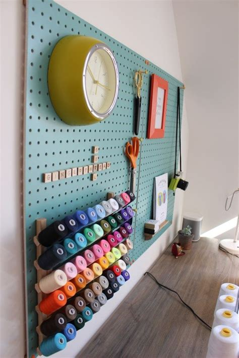 sewing room pegboard ideas 17 best ideas about sewing room design on sewing office room sewing rooms and