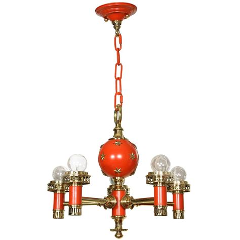 Orange Chandeliers Orange Hanging Light Fixture At 1stdibs