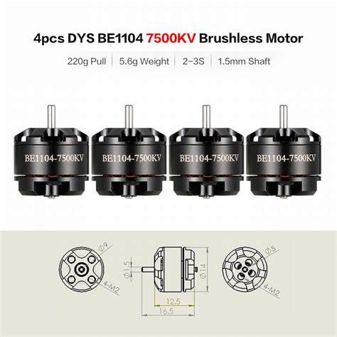 4 Pcs Racerstar Labs 8a 2 3s Lipo Esc 4pcs dys be1104 7500kv 2 3s brushless motor kit for 90 100 130mm fpv rc racing quadcopter for