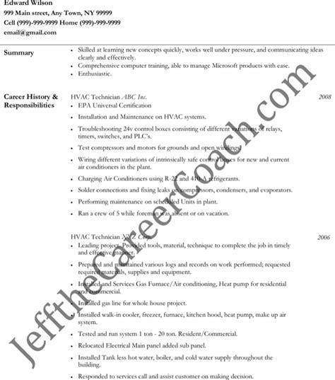 hvac resume sles pdf hvac technician resume free pdf template for free formtemplate
