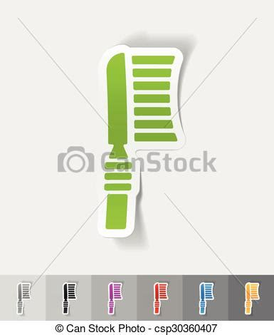 How To Make A Toothbrush Out Of Paper - vector clipart of realistic design element toothbrush