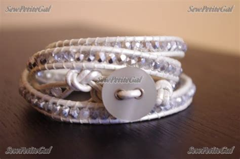 wrap bracelet diy sewpetitegal leather wrap bracelet diy w tutorial