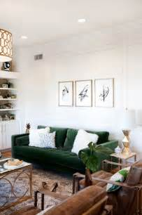 Green Armchair Design Ideas 30 Lush Green Velvet Sofas In Cozy Living Rooms