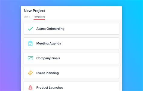 add new workflows easily with asana project templates