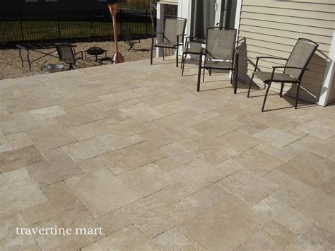 travertine patio pavers travertine pattern patio traditional with deck