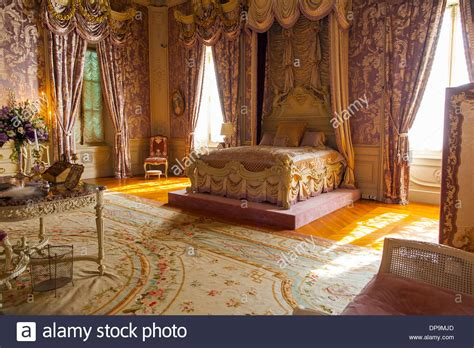 marble house interior a bedroom in the interior of the marble house one of newports most stock photo