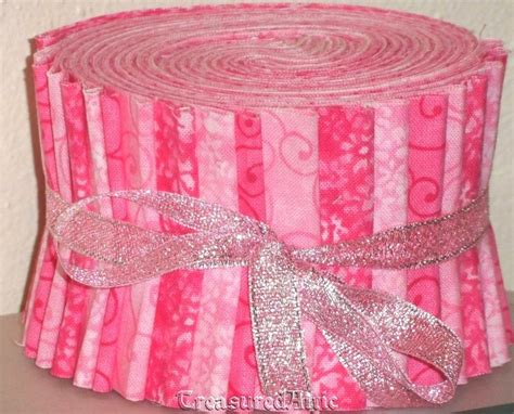 Jelly Roll Quilt Fabric by Jelly Roll Quilting Fabric Strips Pink By Treasuredatticfabric