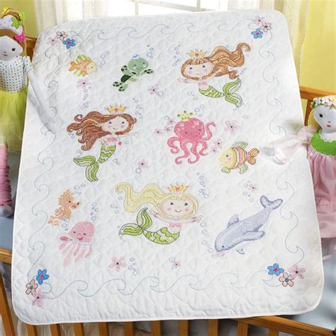 Cross Stitch Baby Quilt Patterns by Weekend Kits Baby Cross Stitch Kits Safari Mermaid Themes