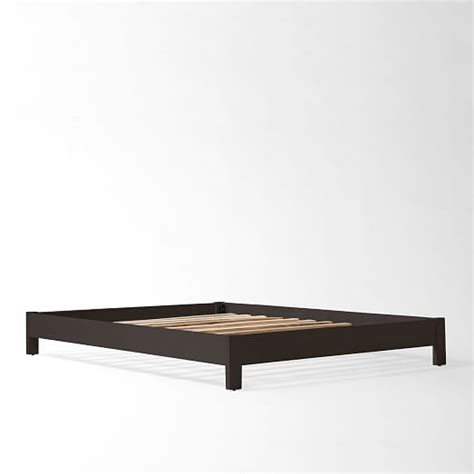 low bed frame simple low bed frame chocolate west elm