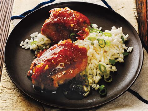 apricot glazed chicken thighs cooking light 55 healthy chicken thigh recipes cooking light