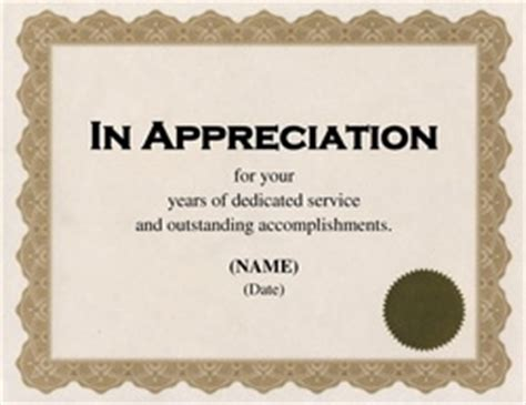 free appreciation certificate templates for word free word certificate templates wording geographics