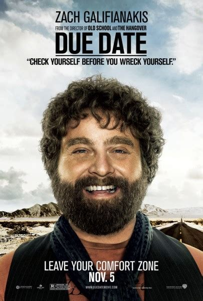 film lucu zach galifianakis due date movie posters collider