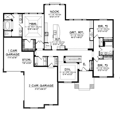 prairie style home floor plans chardonelle prairie style home plan 051d 0746 house