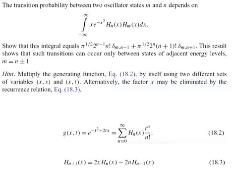 N E X T solved the transition probability between two oscillator