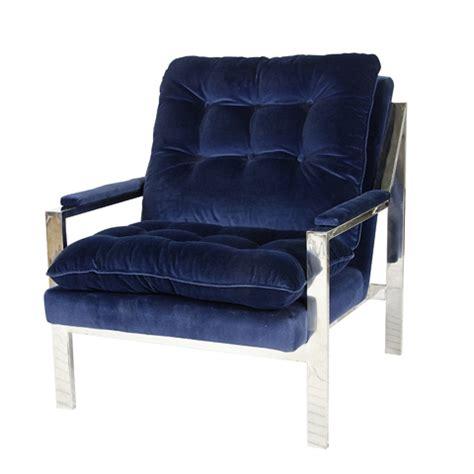 Navy Blue Armchair by Navy Velvet Upholstered Chair Mecox Gardens