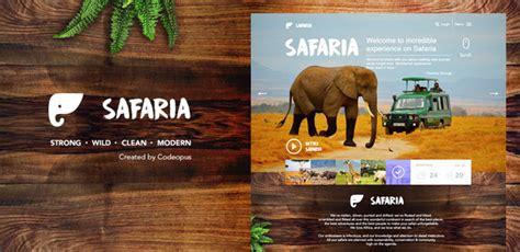 themeforest zoo safaria responsive safari template traclaborat