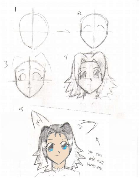 doodle draw anime my way of drawings anime heads by lilchan16 on deviantart