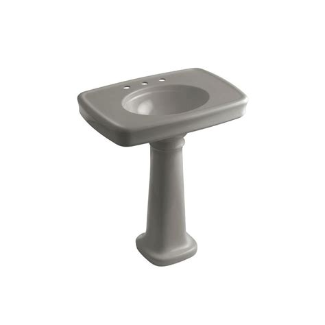 kohler bathroom sink drain kohler bancroft vitreous china pedestal combo bathroom