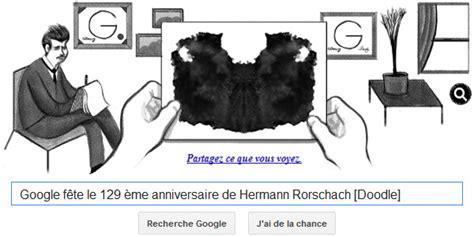doodle rorschach f 234 te le 129 232 me anniversaire de hermann rorschach