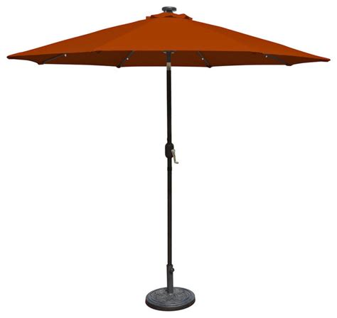 Mirage Fiesta 9 Market Solar Led Auto Tilt Patio Umbrella Led Patio Umbrella