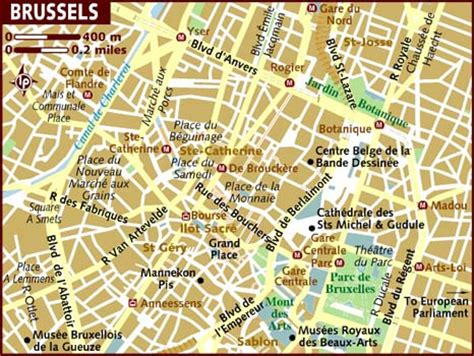 map of central brussels map of brussels