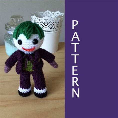 amigurumi joker pattern joker amigurumi pattern by 53stitches on etsy 6 00 1