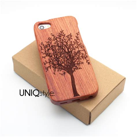 Archi Wood Iphone 5c Custom Flip Cover tree plant engraved wood for iphone 6 iphone 4 4s