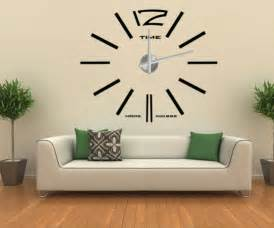 home accents wall: home decor d wall sticker big wall clock s