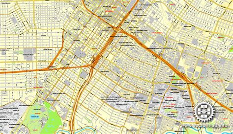 houston map dwg houston us printable vector city plan map 6