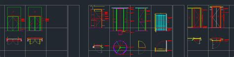 door plan elevation and section door s plan section elevation and detail cad files dwg