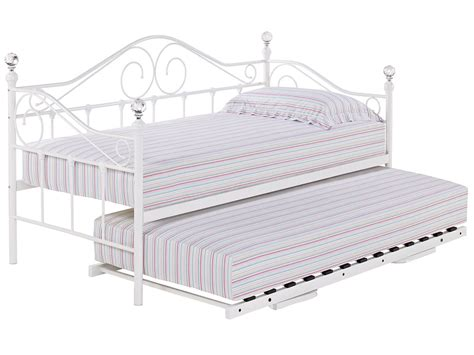 metal trundle bed metal day bed daybed frame and trundle guest underbed single 3ft black white ebay