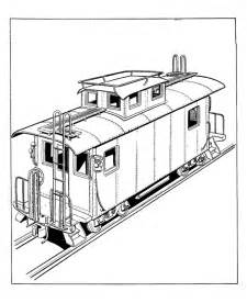 Train And Caboose Coloring Page  Get Pages sketch template