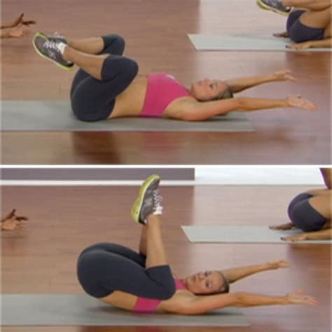 open knee tucks targets lower portion of abdominal wall pooch shape magazine abs workout