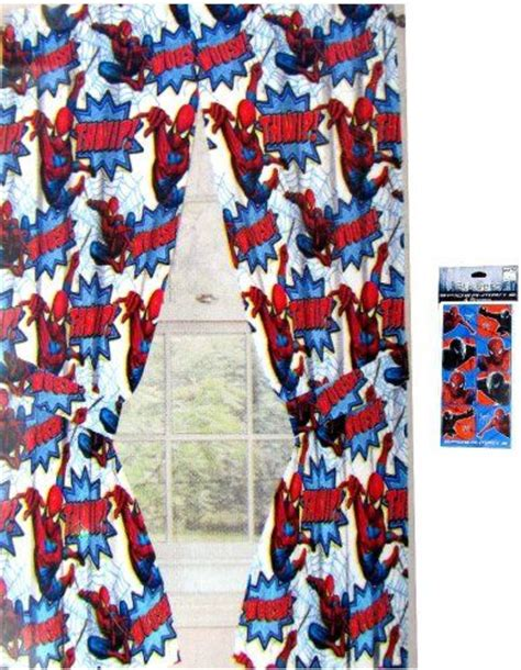 spiderman drapes spiderman window curtains drapes for kids 42 quot x63 quot short
