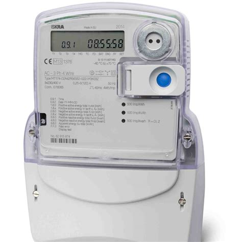 in a meter iskra mt174 three phase multifunction electronic meter