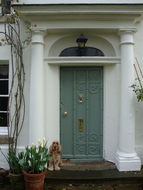 modern country style farrow and front doors and