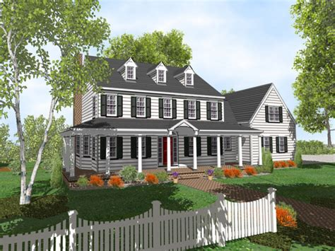 two colonial house plans 2 colonial style house plans two colonial