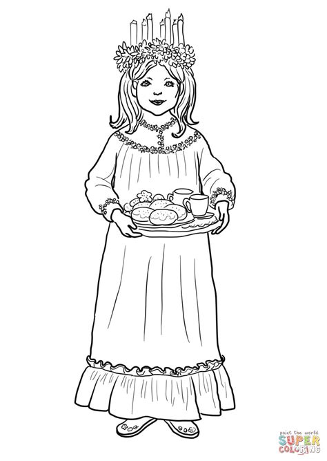 saint lucy day coloring page  printable coloring pages