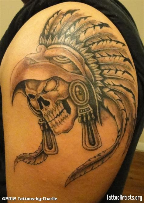 aztec skull tattoos aztec warrior skull aztec warrior skull by tattoos by