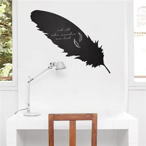 wall decals feather chalkboard wall decal