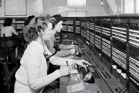 telephone operators at potters bar telephone exchange