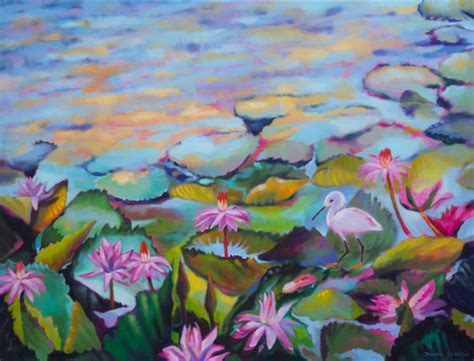 Setelan Flower Abstract Lucia flower paintings donna grandin