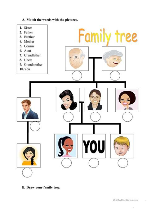 kindergarten activities on family esl family worksheets kindergarten family members esl
