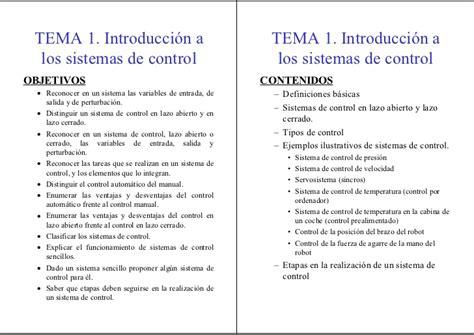 sistema de control de formularios introducci 243 n al control autom 225 tico