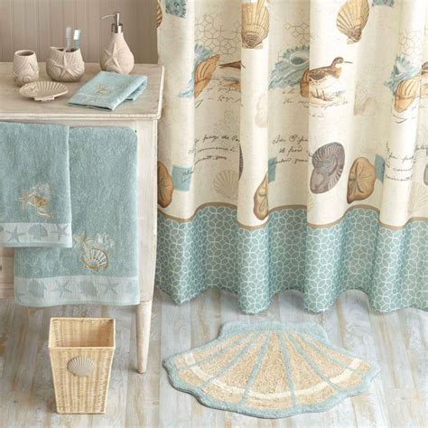 seashell bathroom decor ideas coastal style decor from walmart fox hollow cottage