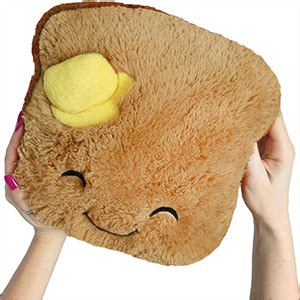 squishable comfort food toast mini comfort food toast an adorable fuzzy plush to