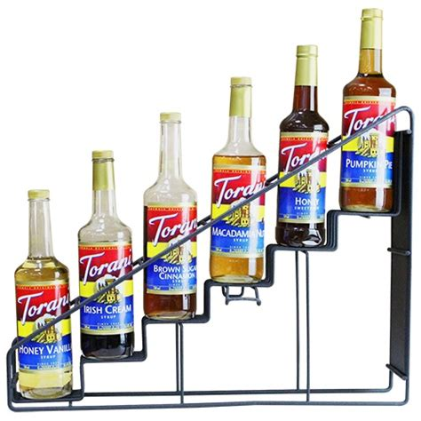 Coffee Syrup Rack by Torani 6 Bottle Syrup Rack