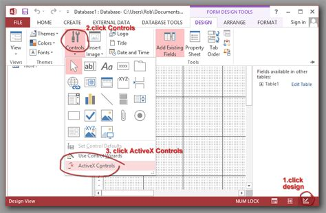 layout event vba chapter3 msaccess activex walk through