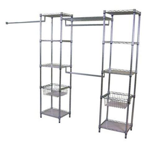 Lowes Closet Shelf by Real Organized Lo 15141872zl Metal Deluxe Closet Organizer